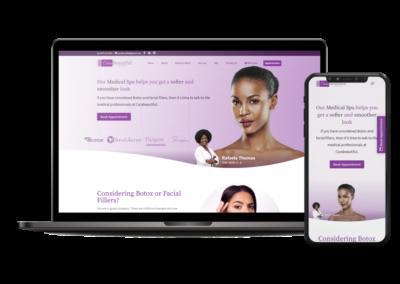 CaraBeautiful   Website Design